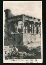 Greece ATHENS Caryatides in Portico of the Maidens 1937 RP PPC