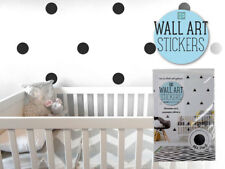 12x Modern Wall Sticker Dots Black Removable Decal Art Home Room Kids Decor