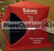 69151 Eskimo QuickFish 2 Ice Shelter Shanty 2 Man Portable Ice Shelter REFURBS