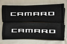 Chevrolet Camaro Black Plush Seat Belt Cover Shoulder Pad Cushion Pair