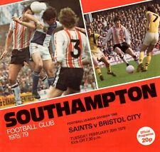 Southampton v Bristol City programme, Division 1, February 1979