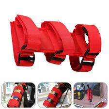 Car SUV Roll Bar Fire Extinguisher Holder Emergency Safety Accessory Kit Red