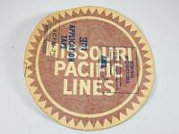 "Vintage 1950's Large 12"" MOPAC Missouri Pacific Railroad Lines Sticker WOW"