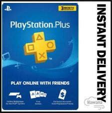 Sony PlayStation Plus 3 Month / 90 Day Membership Subscription Card (USA)
