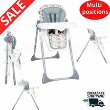 6 postion Baby High Chair Harness Toddler Safety Seat Comfortable Foldable child