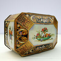 Vintage Biscuits Tin Box Casket Chest Fruit
