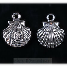 30pcs 18mm Charms Shell Chief Tibet Silver Pendants Connectors DIY Jewelry A7717