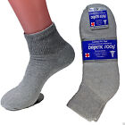 12 New Pairs Diabetic Ankle Socks Quarter Crew Health Cotton Mens Womens LOT