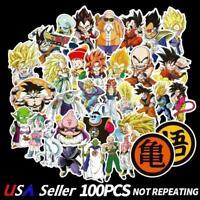 ☆USA☆ 100Pc Anime Dragon Ball Z Super Saiyan Goku Vegeta Piccolo Pan Sticker DBZ