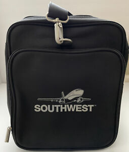 Southwest Airlines Black Soft Sided Duffle Gym Bag Luggage Travel Collapsable