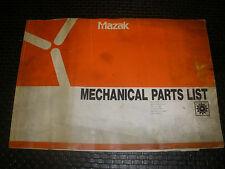 Mazak Multiplex 630 Conveyor Gl200N Parts Manual