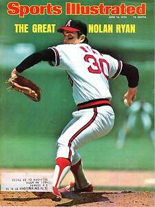 1975 6/16 Sports Illustrated magazine baseball Nolan Ryan, California Angels VG