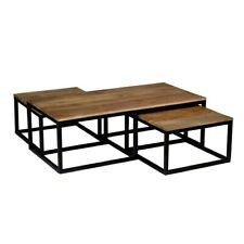Industrial Mango Nest of tables & Coffee Table  Mango Wood Fully Assembled