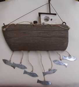 Fishing Boat Wall Art   Wooden Boat   Boat Decoration   Home Decor  Gifts