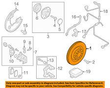 AUDI OEM 09-16 A4 Quattro Rear Brake-Rotor 8K0615601M