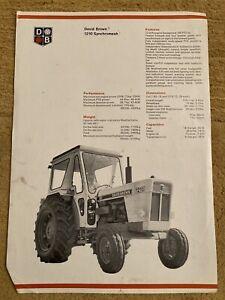David Brown Case 1210 Tractor Brochure Leaflet 1212 995 996 1200 DB
