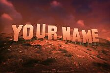 Hollywood Sign Poster with YOUR NAME OR ANY TEXT on the sign (18 x 24 in.)