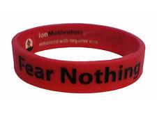 FEAR NOTHING Wristband Motivational Inspirational Ionic Tourmaline Negative Ion