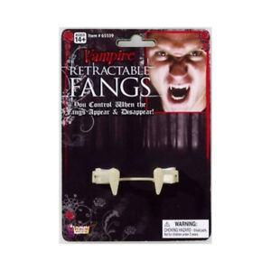 Retractable Vampire Fangs Dracula Vampyre Deluxe Costume Halloween Accessory
