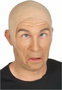 Theatrical BALD CAP Latex Costume Skin Head Skinhead Rubber Wig Old Flesh Clown