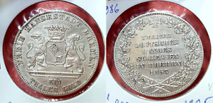 Bremen 1 Shooting Thaler 1865  Silver Coin Germany Taler Shooting Festival Lions