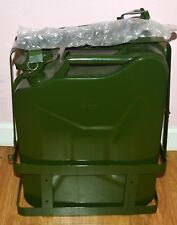 NEW MILITARY 5-GALLON 20-LITER METAL GAS TANK WITH MOUNTING BASE JERRY CAN NEW
