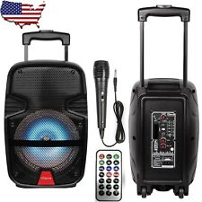 """8"""" Wireless Portable Party Bluetooth Speaker Rechargeable With Microphone Remote"""