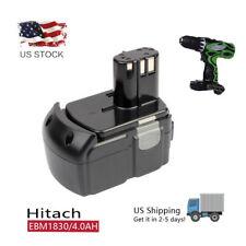 18V 4000mAh Li-Ion Battery for HITACHI BCL1815 EBM1830 WR18DL RB18DL UB18DL