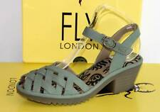 FLY LONDON Leder Sandalette Sandale - Made in Portugal - WUZY Green - Neu! Gr.37