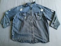 SeeSee Women's Oversized Distressed Denim Jacket Size L New With Tags