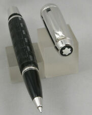 Montblanc Boheme Doue Signum Aztec Black & Platinum w/ Onyx Clip Rollerball Pen