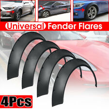 4x Flexible Universal Car Fender Flares 3.9'' Extra Wide Body Wheel Arches Cover