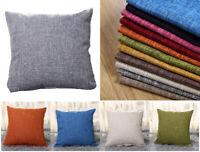 "New Large Plain Linen Cushion Cover Pillow Cases Home Decor Size 16"" 18"" 20"" 22"""