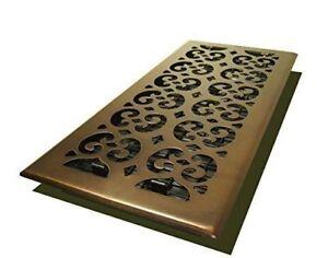 "Decor Grates  6"" X 14""  Oil Rubbed Bronze Scroll Floor Register"