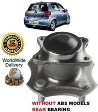 Para Toyota Yaris + Yaris Verso 1999-2005 Trasera Sin-Abs cojinete de rueda Hub Kit