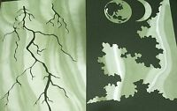 N3 MOON LIGHTNING CLOUDS THUNDERSTORM Airbrush Stencil Template Paint Craft