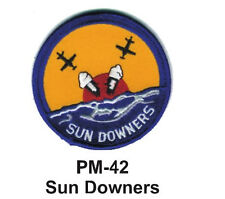"3"" SUN DOWNERS Embroidered Military Patch -brand new"