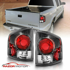 94-04 Chevy S10 Gmc Sonoma Carbon Black Rear Brake Replacement Tail Lights Pair (Fits: Isuzu)