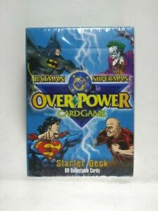 OVERPOWER Batman Superman DC Starter Deck 69 Collectible Playing Cards UNOPENED