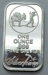 SILVERTOWNE MINT Prospector & Donkey 1 OZ.999 Silver Bar Uncertified, No Reserve
