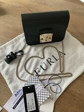 Furla Mini Metropolis Black Crossbody Bag