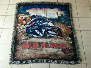 """Chicago Bears Tapestry Throw Blanket 42"""" x 30 The Northwest company NFL"""