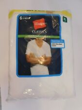 NEW! 6PK Hanes V-Neck Ultimate Comfortsoft Undershirt Tagless T Shirts XL  46-48