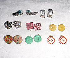 Antiguo Lote 8 de Clip Pendientes De Colección Superior X como se muestra en la fotografía de grupo