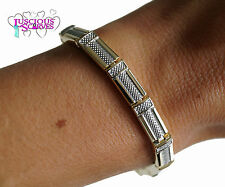 LADIES SUPER STRONG BIO MAGNETIC SILVER & GOLD ALLOY HEALING BRACELET NEW