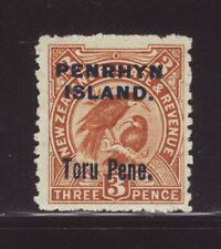 1903 Penrhyn Island Opt On NZ 3d Mounted Mint SG14