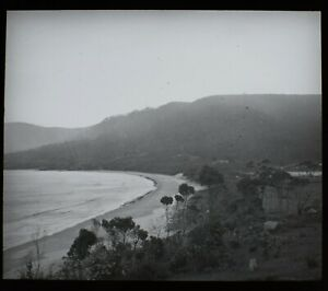 VINTAGE Magic Lantern Slide BEACH IN TASMANIA C1949 PHOTO AUSTRALIA