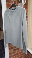 "Men's Green Jumper, V Neck, Size M (Chest 38/40"") Good Condition"