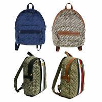 Tommy Hilfiger Womens Backpack Jacquard Casual Fashion Bookbag Bag Travel New Th