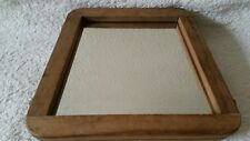 DUNLOP VINTAGE WOODEN TENNIS RACKET HEAD PRESS UPCYCLED MIRROR/DRESSING TABLE